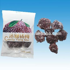 Delicious Chinese Sour Plums Rock candy Waxberry