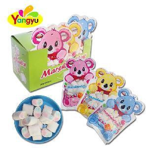 Halal Colourful Bear Bag Packed Fruity Mni Marshmallow