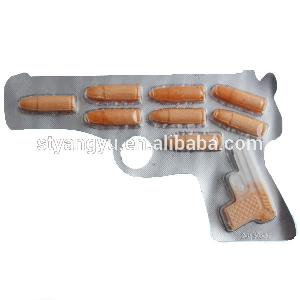 Gun  Shape Biscuit and Sour  Powder  Candy