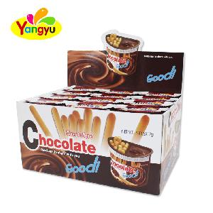 High quality  6g  stick Biscuit with 6g chocolate jam