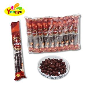 Halal Little Round Crispy Chocolate coated Chocolate Beans Candy