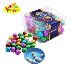 Competitive Price Colorful Packing Delicious  Round  Small  Chocolate   Candy