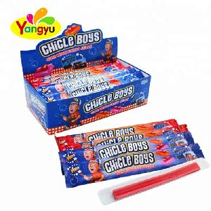 2017 New Arrival Chile Boys Long Bubble Gum With Fruit Sweet Jelly