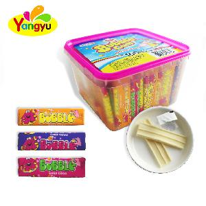 Suitable for all people box packing long100 pcs sweet bubble gum