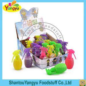 Colorful sweet spray fruity flavor spray Hand grenades spray candy