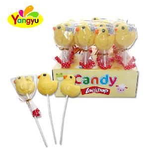 Halal Sweet Lollipop Little Yellow Duck Lenmon Banana Flavor Pattern Lollipop