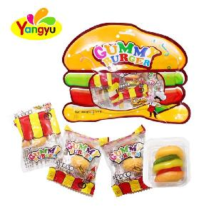 Halal Gummy Candy Mini Hamburger Soft Candy