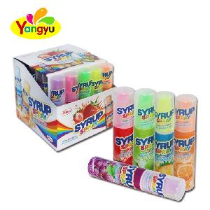 Halal Candy Syrup Spray Sour Sweet Fruity Flavors Liquid Candy