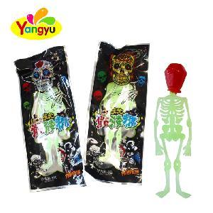 Luminous  Skeleton Sweet Skull Lollipop Candy