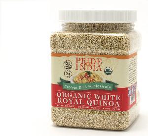 PRIDE OF INDIA - ORGANIC WHITE ROYAL QUINOA SEEDS BULK PACK(25 KG, 55 LBS)