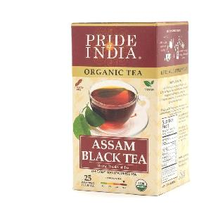 Organic Assam Breakfast Black Tea 1-Pack (25 Tea Bags)