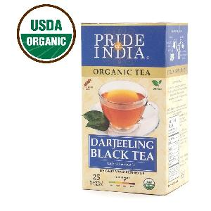 Pride Of India - Organic Darjeeling Afternoon Black Tea- Bulk Pack (500 Tea Bags) Certified Pure Loose Leaf - Direct From Source