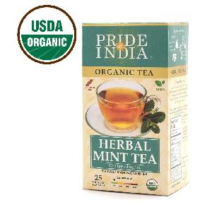 Pride Of India- Organic Herbal Mint Tea Bags (Caffeine Free) - Bulk Pack (500 tea bags)