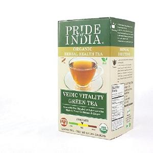 Pride Of India- Organic Indian Green Tea - Bulk Pack (500 Tea Bags) - Certified Pure   Natural Tea - Rich in Antioxidants