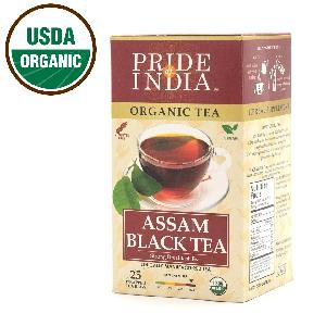 Pride Of India - Organic Assam Breakfast Black Tea - Bulk Pack (500 Tea Bags)- Directly Sourced from India (Assam)
