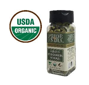 Organic Green Cardamon Whole (1.60 OZ, 45gms) Jar