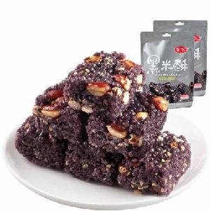 wholesale  fried black  rice snack 248gbags  puffed black rice cake  healthy snacks mini snack