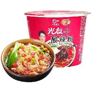 105g*12 boxes GUANGYOU   SWEET  POTATO INSTANT NOODLE   spicy suanlafen  Hot and  sour  vermicelli Chinese Sichuan food snack