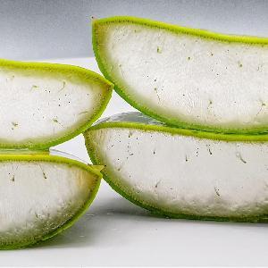 Aloe vera gel dices from Thailand