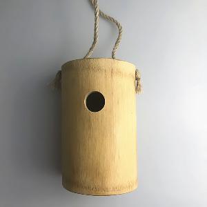 Bamboo Bird  House , Creative Wall Mounted Outdoor Nest Bamboo  Box