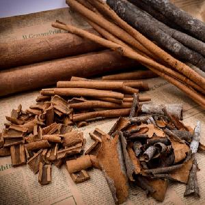 Cinnamon bark is spices and medicinal herbs bring high nutritional value