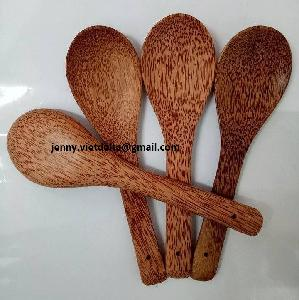 Vietnamese Supplier all kinds of coconut  wood en spoons, eco- friendly big spoon from coconut  wood  (Mr. Gray +84 327005456)