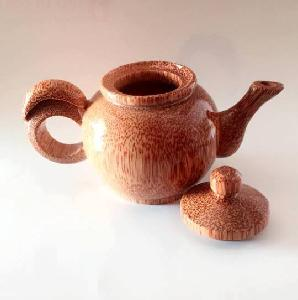 Vietnamese coconut teapot for  restaurant   (Mr. Gray - Whatsapp: +84 327005456)