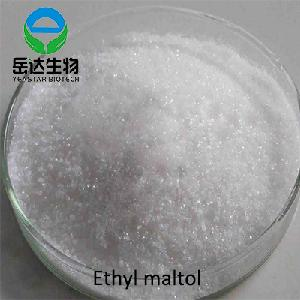 Food Improver 99% Purity Sweet Type Ethyl Maltol With Meat Fragrance