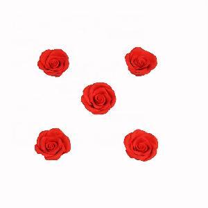 Edible  fondant sugar 3D rose flower for  cake decoration