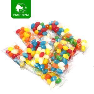 Private label  Bulk  Hemp Extract hair growth rainbow  vitamin s candy Hemp Jelly Beans