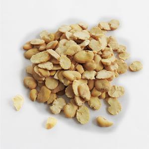 Peeled Split Broad Beans by machine