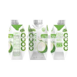 Coconut  water with juice flavor - Original with  sugar  added - Made in Vietnam