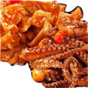 over stock leisure crispy soft snacks chinese spicy cooked squid
