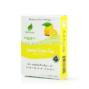 New-pack Slim Fit Tea 100% Ture Lemon Extract Green Tea
