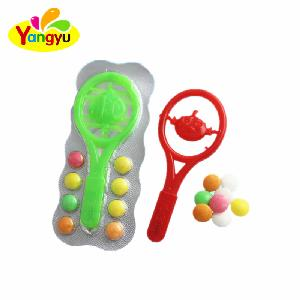 Kid s Racket Pen Toy with Sweet Pressed Candy