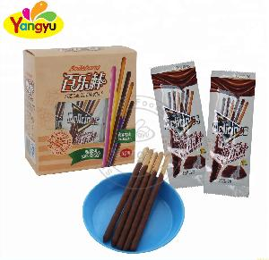 Chocolate Cream Coating biscuits Stick Candy Chocolate Biscuit Stick