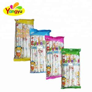 Wholesale Halal Marshmallow Candy Long Twisted Colourful Sweet Candy Soft Chewy Candy