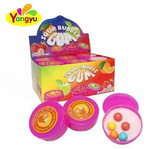 Hot Sale Colorful  Sour Powder With Fruity Bubble gum