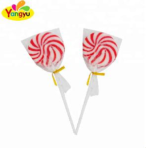 Fruit Flavor Swirl Round Shape Hard Candy Lollipop with box packing