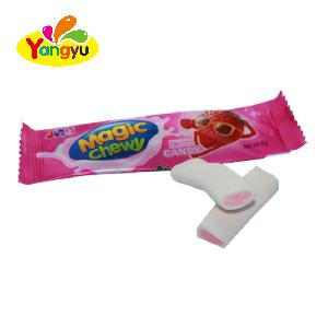 Fruity Flavors Magic Chew Candy  Good Taste Soft candy Gummy Sweet with Confectionery