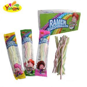 Halal Children sweet  long stick noodles marshmallow wholesale  candy