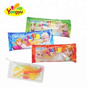 Halal Cheap Child funny colorful  Gummy Rope Candy Frozen Jelly Candy Rope