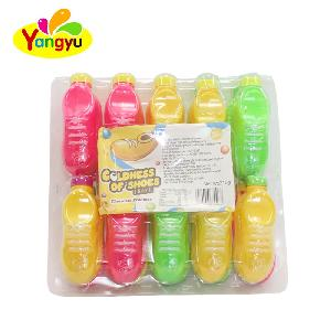 High  Quality  small shoe toy with fruity flavors round candy