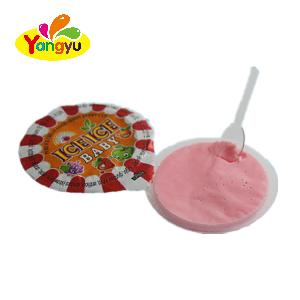 Packing in  Jar  Fruity Ice  Cream  Cup Hot Sell Candy Good Tast Liquid Jam Candy