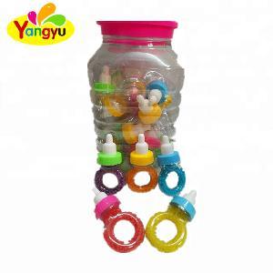Big Ring Shaped Toys Sweet Lollipop Nipple Ring Lollipop Colorful rainbow lollipop