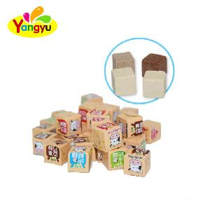 Cube Shape Dry Milk Candy Tablet Candy