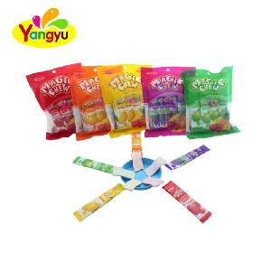 Mix fruit flavor soft candy stick gummy candy