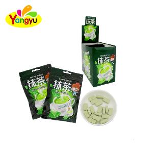 Green Tea Tablet Candy Pressed Sugar Candy