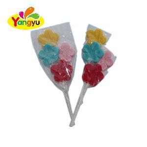 High Quality Multi Color Flower Shape Lollipop In Bulk Multi-Color Fruity Lollipop