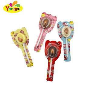 Hot Sell Almond Corn Multi Color Chocolate Lollipop Chocolate Stick Sweet Lollipop Candy